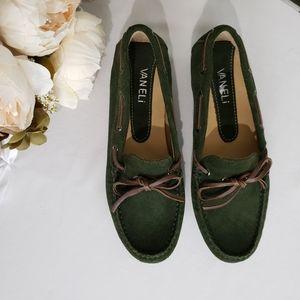Vaneli Dark Green Driving Loafer Moccasin Size 6